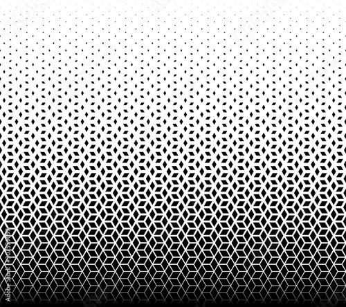Geometric pattern of black diamonds on a white background. - 307579097
