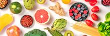 Vegan Food Panoramic Flatlay S...