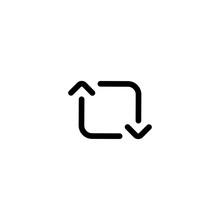 Retweet Icon Vector. Arrow Retweet Icon In Trendy Flat Style Isolated On White Background, For Your Web Site Design, App, Logo, UI. Vector Illustration, EPS10.