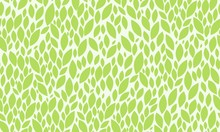 Leaves Seamless Pattern. Green...