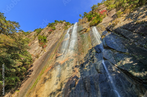 秋の行縢の滝 宮崎県延岡市 Mukabaki waterfall autumn Miyazaki Nobeoka sity