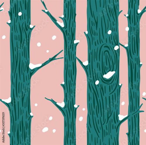 zimowy-las-papier-do-pakowania-prezentow-dekoracja-nowoczesny-wzor-w-stylu-skandynawskim