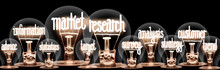 Light Bulbs With Market Research Concept