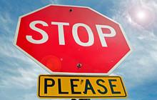 Polite Stop Sign
