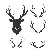 Retro Deer Hunter Logo, Icon And Illustration