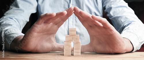 Versicherungen zum Schutz von Wohneigentum Canvas Print