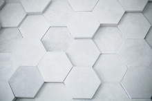 Background Of A Gray Hexagony ...