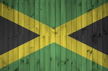 Jamaica Flag Depicted In Brigh...