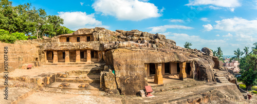 Fototapeta Panoramic view at the Khandagiri and Udayagiri caves complex in Bhubaneswar - Odisha, India obraz