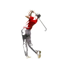 Golf Player, Isolated Low Poly...