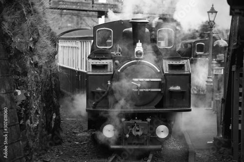 Fototapeta old steam locomotive