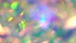 canvas print picture - Blurred real glitter texture. Abstract Holographic Background. Blue pink purple neon pastel spectrum gradient