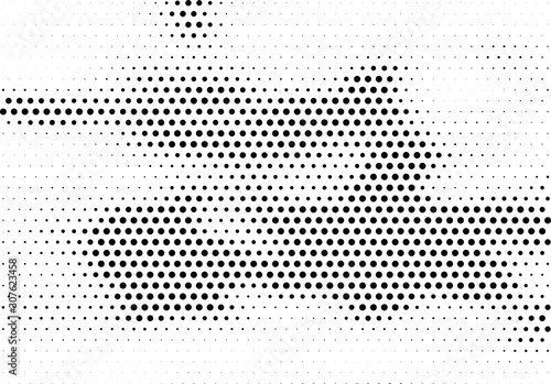 Spoed Fotobehang Pop Art Abstract halftone dotted background. Futuristic grunge pattern, dot and circles. Vector modern optical pop art texture for posters, sites, business cards, cover, postcards, labels, stickers layout.
