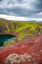 Iceland Landscape. Kerid Crate...