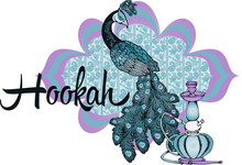 Hookah. Suitable For Posters, Cards, Tattoo. Vector Illustration. Engraving Style