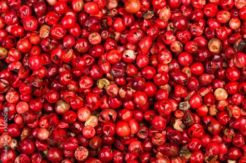 Photo Granos de pimienta roja. Vista superior