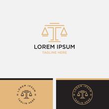 Law Firm Line Trend Logo Ico...