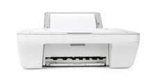 Ink Jet Printer Isolated On Wh...