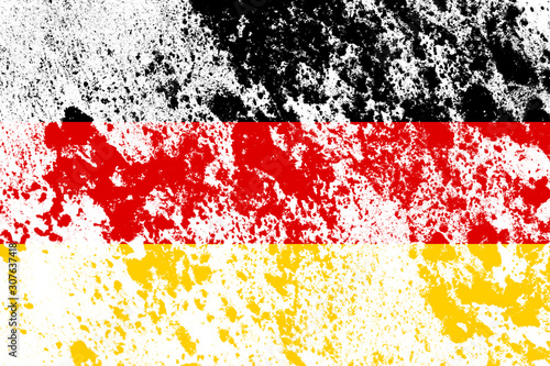 Photo flag of germany with texture. template for design