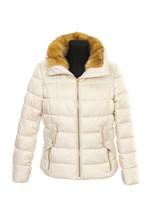 Winter Warm Female Jacket. Isolated On White Background