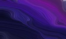 Modern Waves Background Illust...