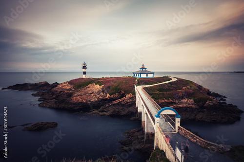Illa Pancha lighthouse near Ribadeo, Lugo, Spain.