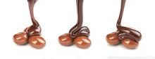 A Set Of Round Chocolate Candi...