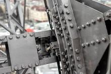 Close-up Grey Painted Steel Ir...