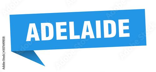 Adelaide sticker. Blue Adelaide signpost pointer sign Wallpaper Mural