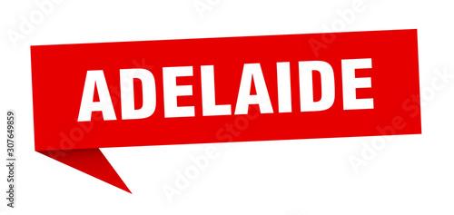 Adelaide sticker. Red Adelaide signpost pointer sign Wallpaper Mural