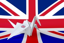 Great Britain Flag Depicted On...