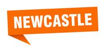 Newcastle Sticker. Orange Newc...