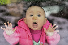 Baby Trying To Lick Rain Drops...