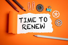Time To Renew. Businesses, Str...
