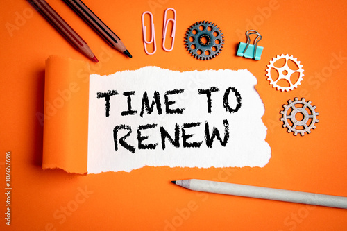 Cuadros en Lienzo Time to renew. Businesses, strategies, plans and goals concept