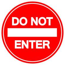 Do Not Enter Street Sign,Vecto...