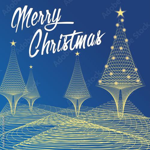 Photo Merry Christmas, natale, alberi.