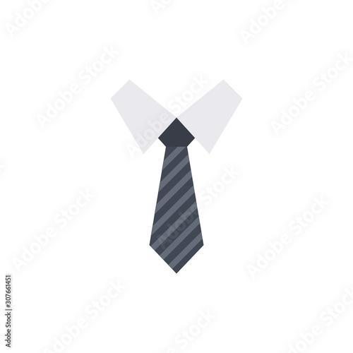 Necktie Vector Flat Illustration. Pixel perfect Icon Style. Fototapeta