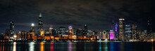 Night Chicago Skyline