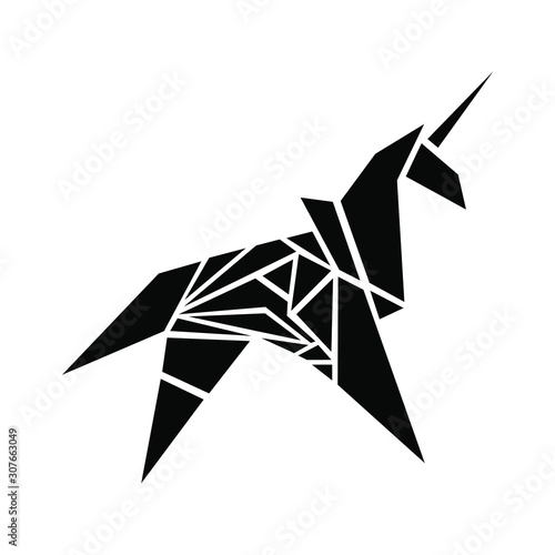 Unicorn mystic beast vector graphic Fototapet