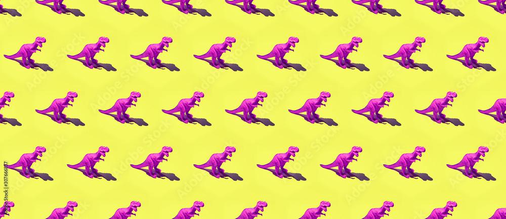 Dinosaur minimal seamless pattern