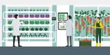 Vertical farming hydroponics