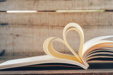 Shape Heart Create From Book P...