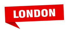 London Sticker. Red London Signpost Pointer Sign