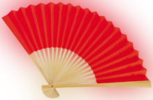 Chinese Fan Isolated On White ...