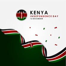 Kenya Independence Day Vector Design Template