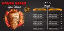 Doner Kebab Cooking And Ingred...