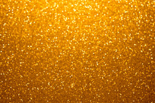 Festive Golden Bokeh Background With Sparkling Glitter