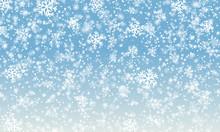 Snowflake Background. Falling ...