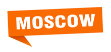 Moscow Sticker. Orange Moscow ...